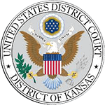 Logo Recognizing Castle Law Office's affiliation with US District Court of Kansas District