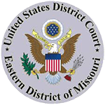 Logo Recognizing Castle Law Office's affiliation with US District Court of Eastern Ditrict of Missouri